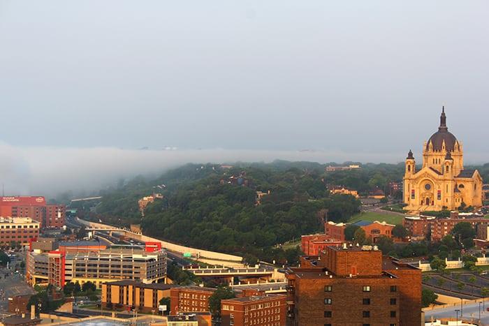 Foggy Saint Paul Skyline © berry LLC.