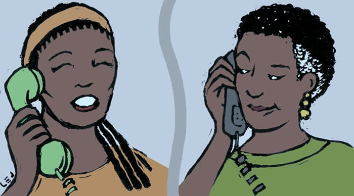 Brenda calling Bobbie  © Leann E. Johnson