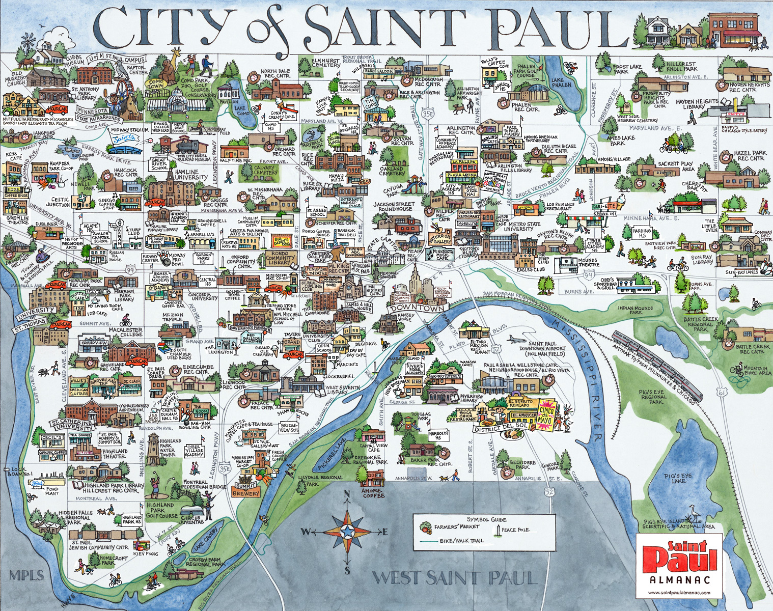 Saint Paul Minnesota Map  Cbeo