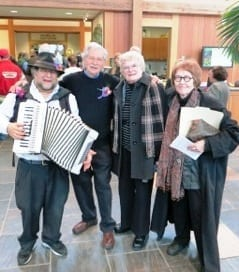 From L: Mark Stillman, Norton Stillman, Author Jill Breckenridge, and Corol Connolly, poet Laurette of Saint Paul