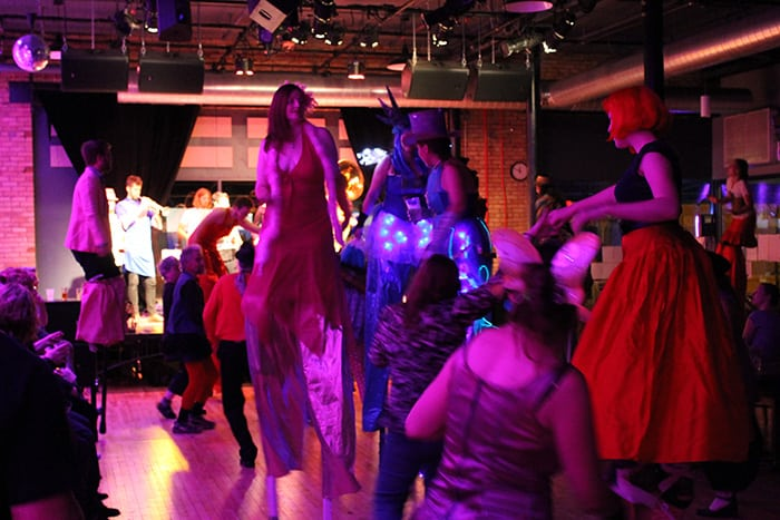 Stilt Dancers at the Bedlam Theater in Lowertown