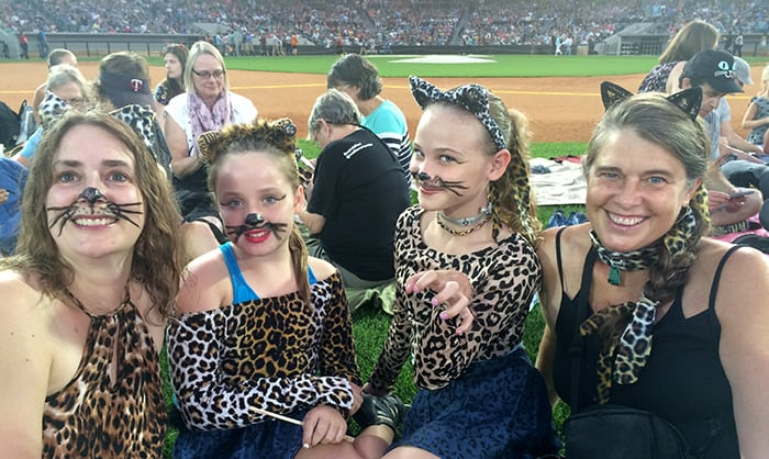International Cat Video Fans L -R : Monica Trent ; Eliana Konechne Redfield; Mira Silverthorn;  Deborah Konechne