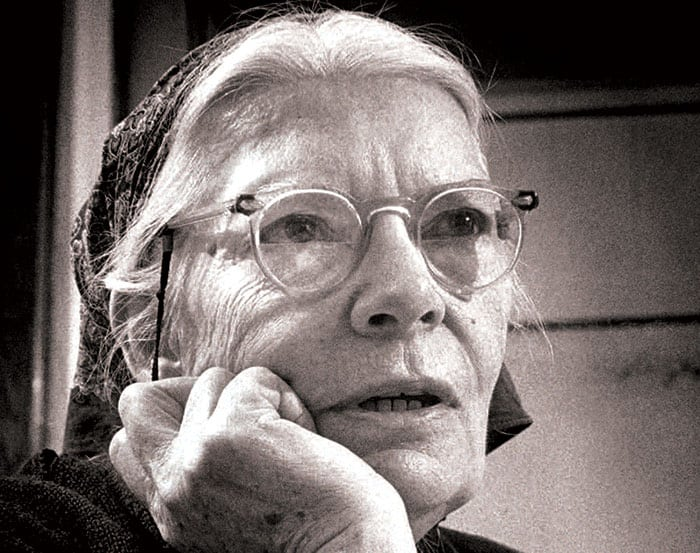 A 1968 photo of Dorothy Day from the Milwaukee JournalCourtesy Marquette University Archives