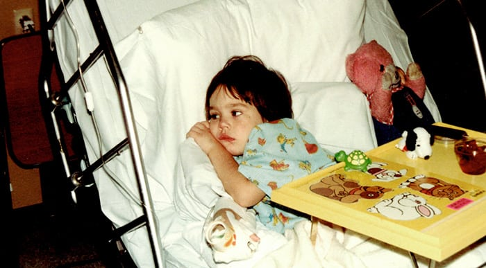 Barb at Children's in 1980