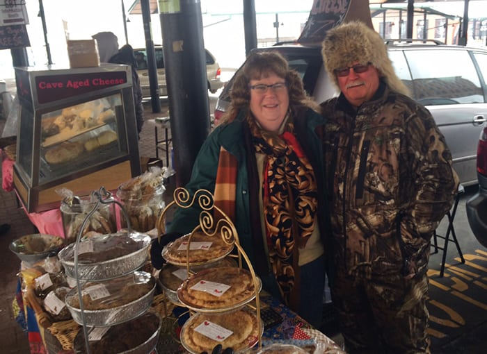 Mary and Bruce with Douville Bakery at Saint Paul Farmer's Market