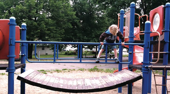 Owen playing at Park Two. Photo courtesy of Jennifer Zimmerman